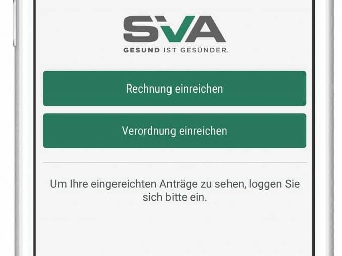 Erstattung und Bewilligung mittels SVA-App