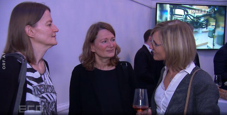Ingrid Szabo und Gudrun Humel bei ECO Jubiläumsfeier